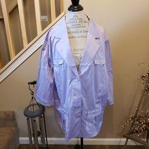 NWT Plus Size Lilac Pea Coat